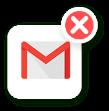 Ícone de email cinza