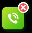 Ícone de telefone branco com fundo verde