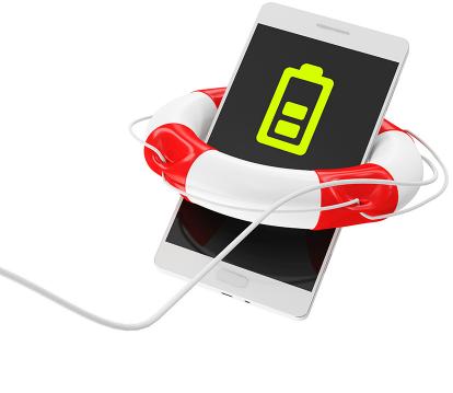 Foto de um smartphone envolto por uma bóia salva vidas