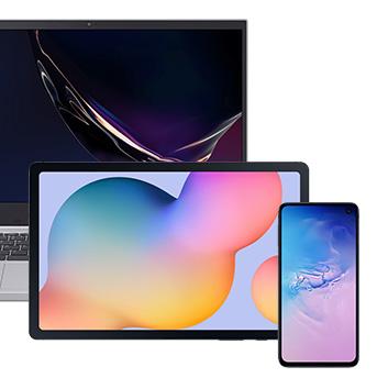 Smartphone, tablet e notebook. Todos compatíveis com o produto Fone Super Bass
