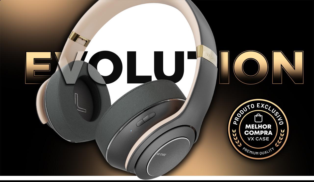 Headphone Evolution reproduzindo música de smartphone