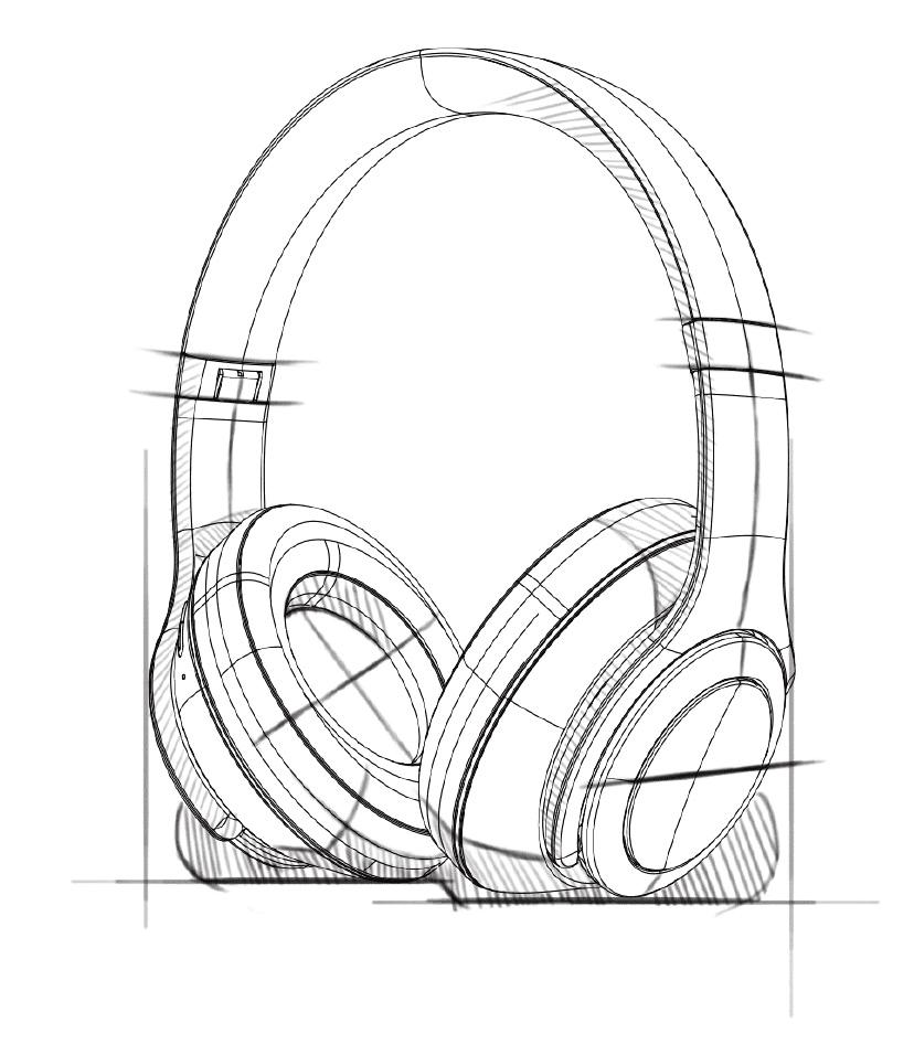 Esboço do design do Headphone Evolution
