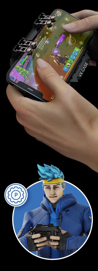 Pessoa e personagem 3D usando o produto VXGamepad