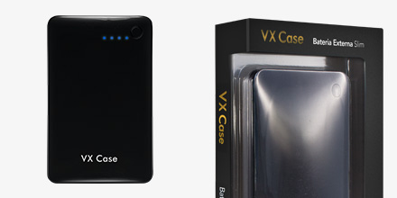 Bateria Externa Vx Case Slim 10000m